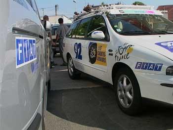 Fiat et le Tour de France, 15 ans de partenariat