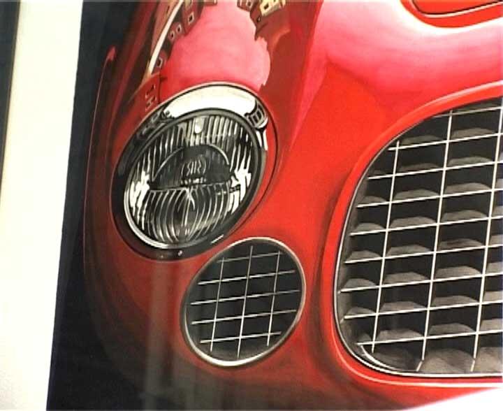 Philippe Burlet, un artiste peintre à Rétromobile