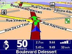 L'écran de navigation