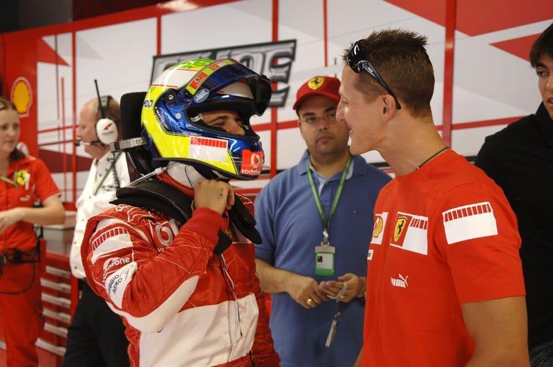 Felipe Massa et Michael Schumacher