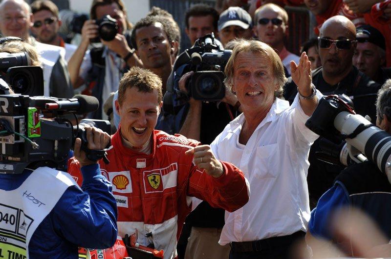 Luca di Montezemolo et Michael Schumacher