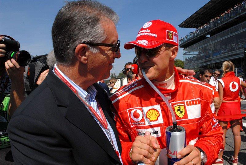 Piero Ferrari et Michael Schumacher
