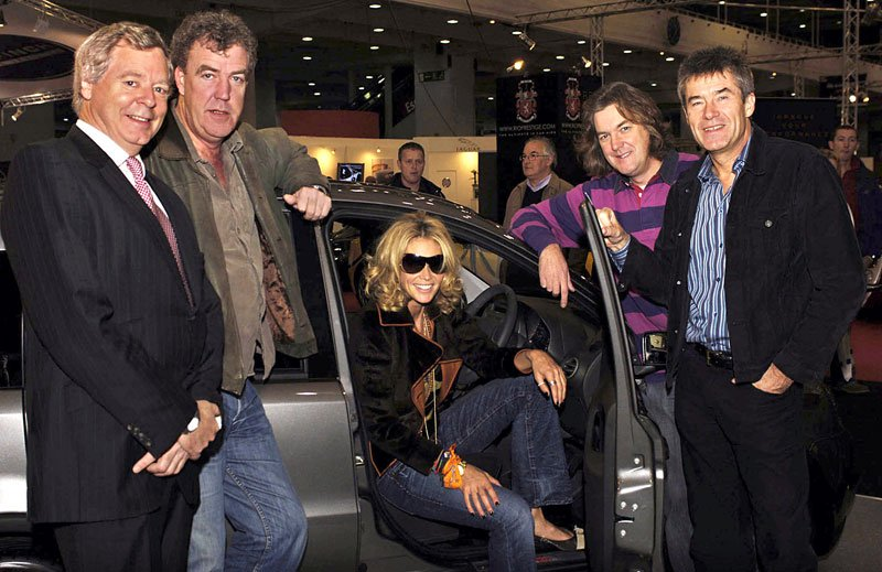 Peter Newton, Jeremy Clarkson, Elle Macpherson, James May, Tiff Needle
