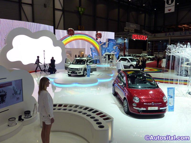 Le stand Fiat à Genève