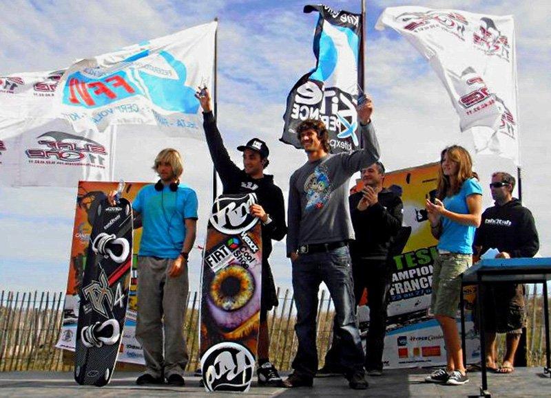 Sébastien Garat, membre de la Fiat Freestyle Team, champion de France de kitesurf 2010 pour la quatrième année consécutive