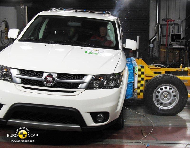 Crash test EuroNCAP Fiat Freemont