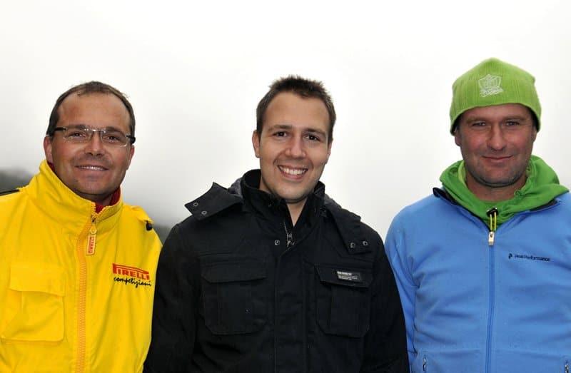 Podium du Abarth Trofeo Slalom (Suisse)