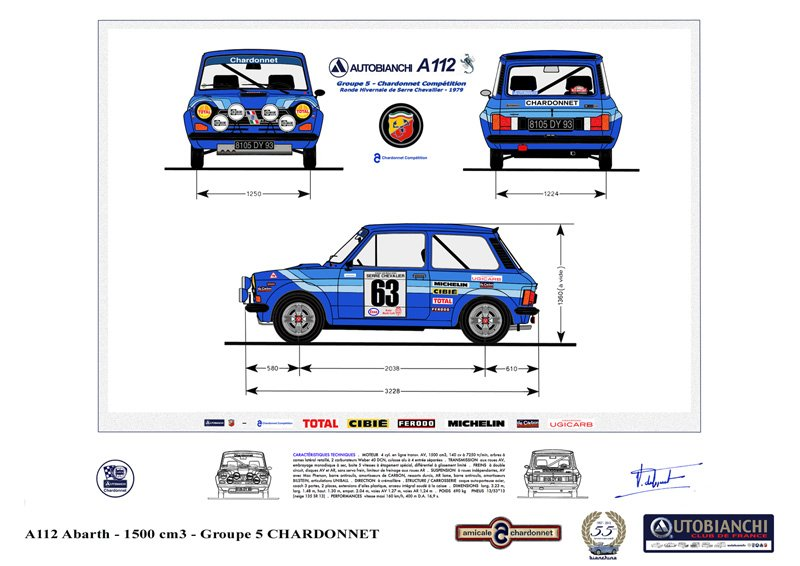 A112 Abarth Groupe 5 Chardonnet