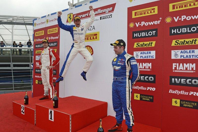 Podium première étape du Ferrari Challenge Europe 2012