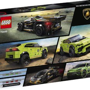LEGO Speed Champions Lamborghini Urus ST-X & Lamborghini Huracán Super Trofeo EVO, Set de voiture de course, 253 pièces, 76899
