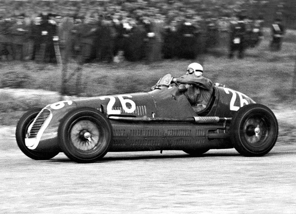 Palerme le 23 mai 1940 - Victoire de Gigi Villoresi avec la Maserati 4CL à la Targa Florio