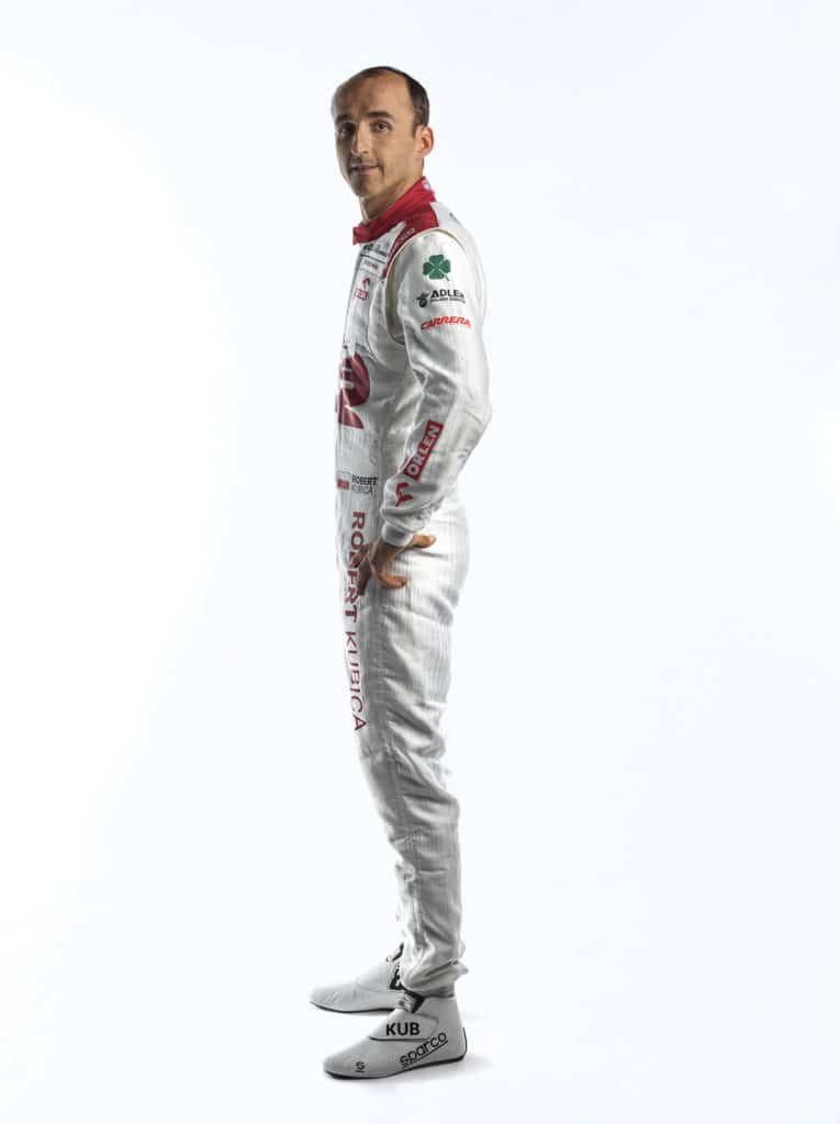 La combinaison de Robert Kubica pour la saison 2021 - Alfa Romeo Racing Orlen